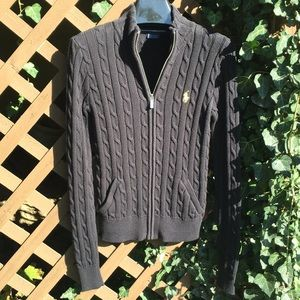 NAVY blue Ralph Lauren Sport cable knit sweater